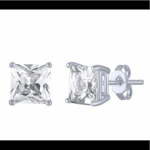 Princess Cut Lab-Created Stud Earrings